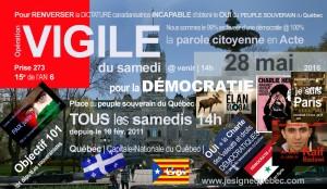 VIGILE du samedi pour la démocratie
