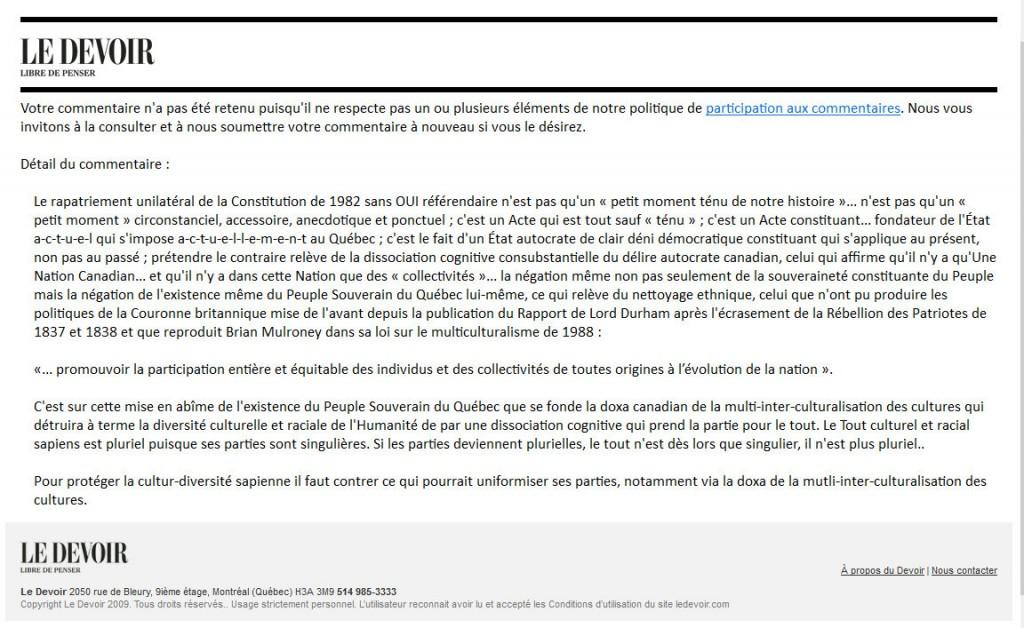 LeDevoir-Refus de publication-2016-09-14-F-Pelletier