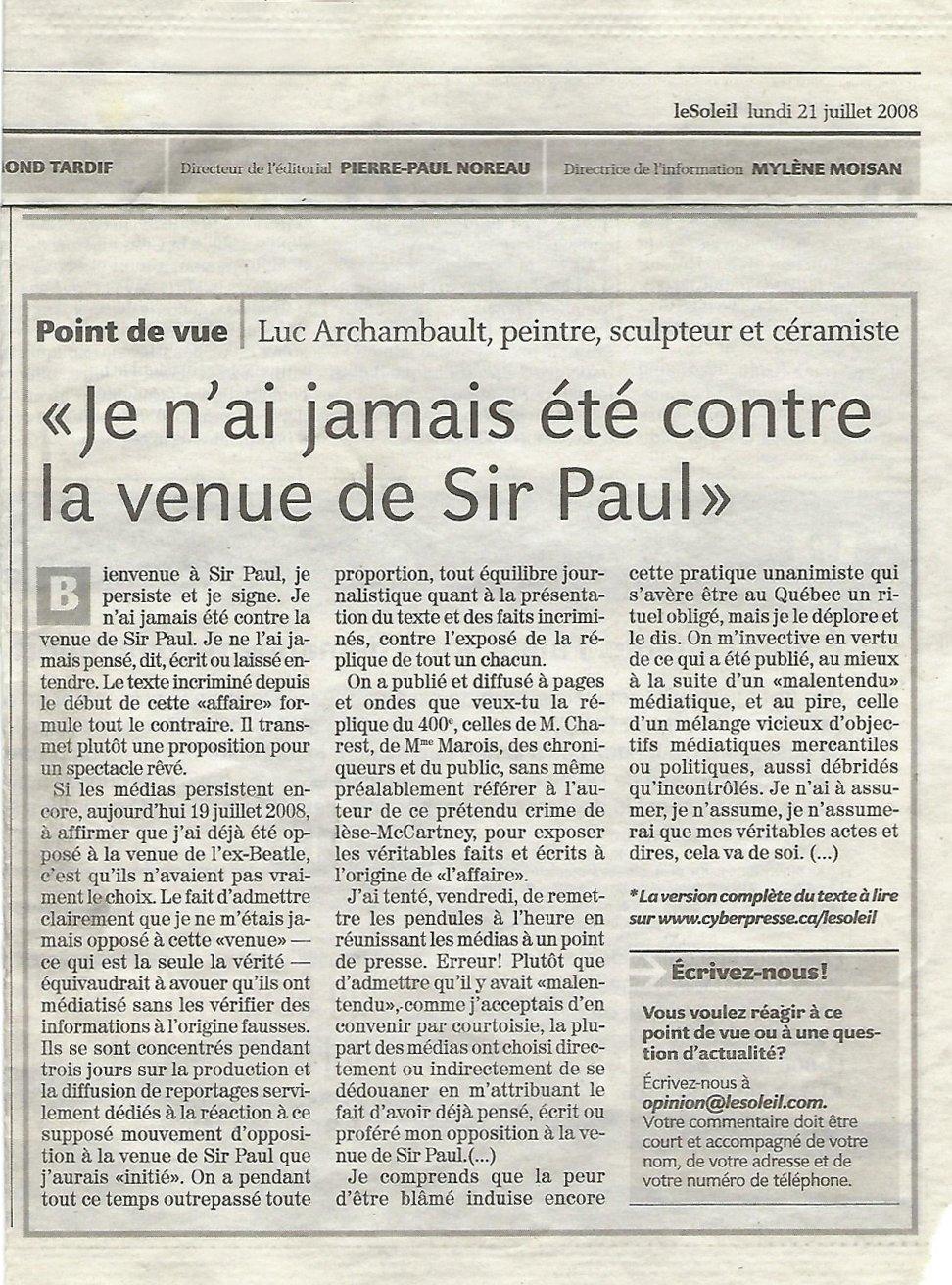 LeSoleil-2008-07-21-Je n'ai jamais été contre la venue de Sir Paul
